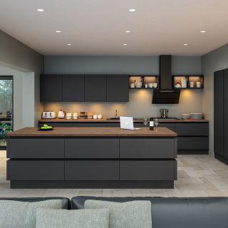 Supermatt Graphite Kitchen